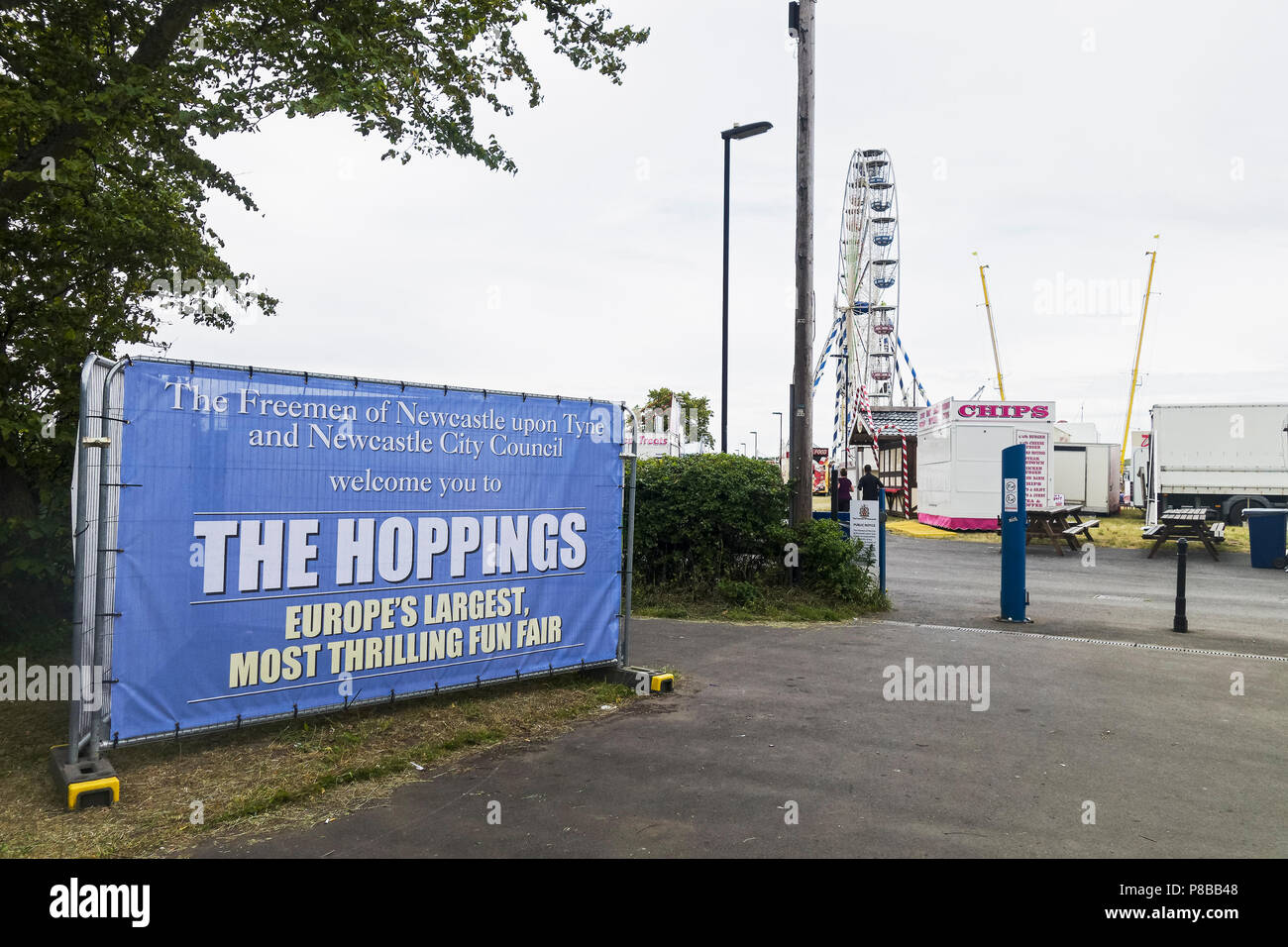 Hopping annual funfair at Newcastle upon Tyne, UK - Stock Image