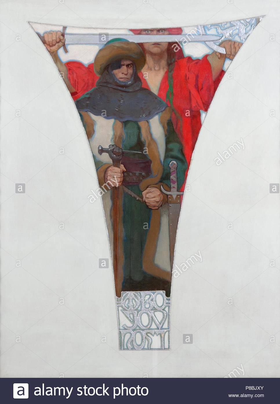 John Zizka. Museum: City Gallery Prague. - Stock Image