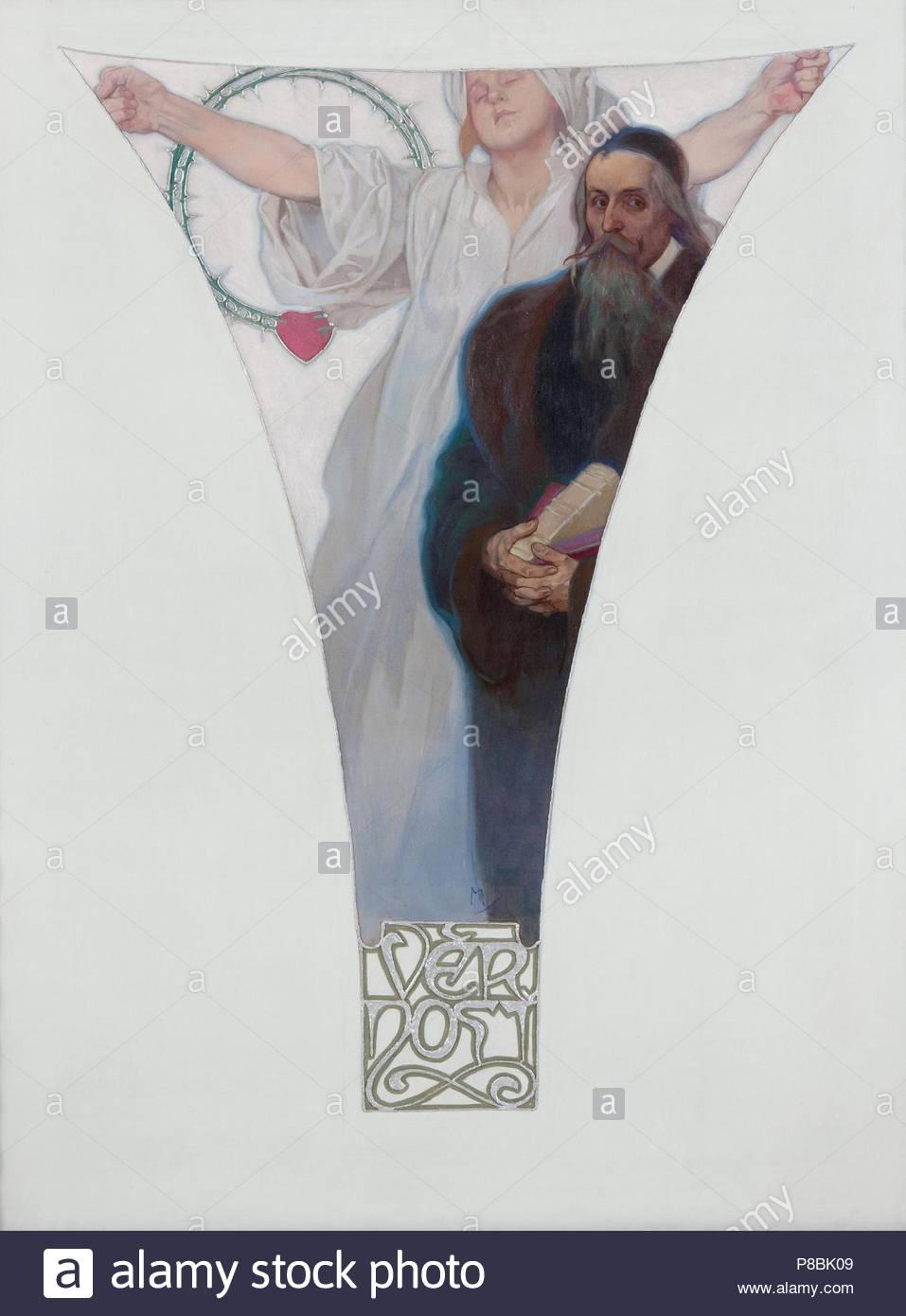 John Amos Comenius. Museum: City Gallery Prague. - Stock Image