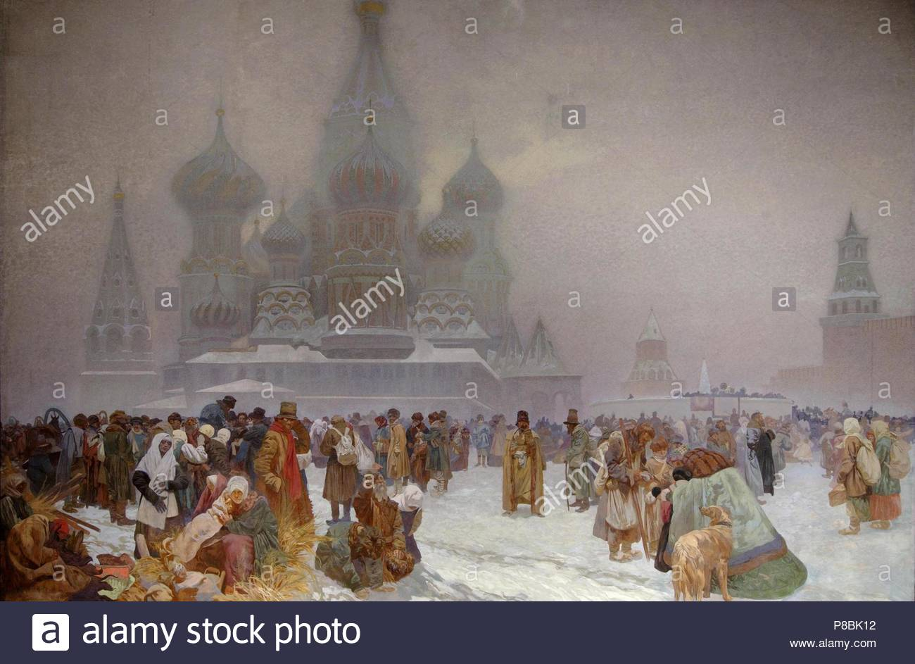The Abolition of Serfdom in Russia. Museum: City Gallery Prague. - Stock Image