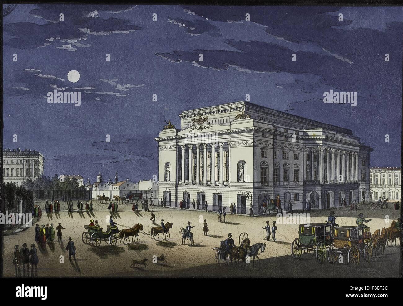 The Alexandrinsky Theatre in Saint Petersburg. Museum: Bibliothèque municipale de Nancy. - Stock Image