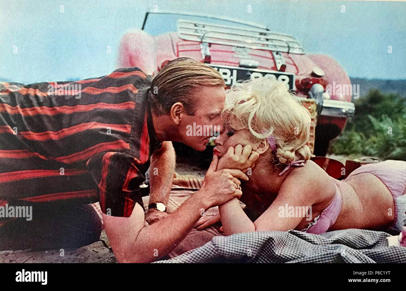 THE FAST LADY 1962 Independent Artists film with  Julie Christie and Leslie Phillips - Stock Image