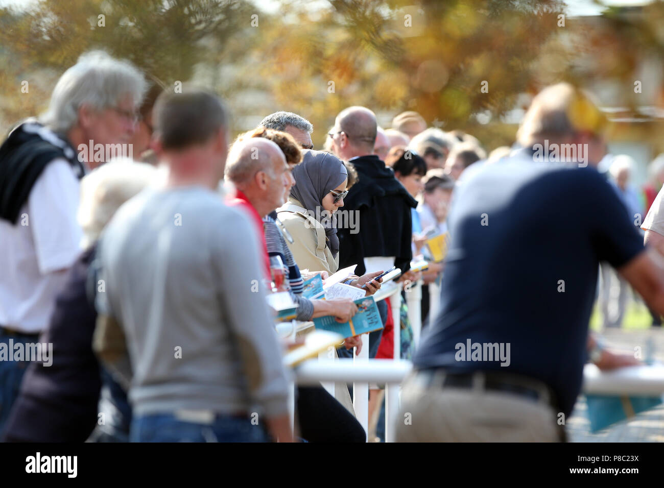 Iffezheim, interested parties at the BBAG annual auction - Stock Image