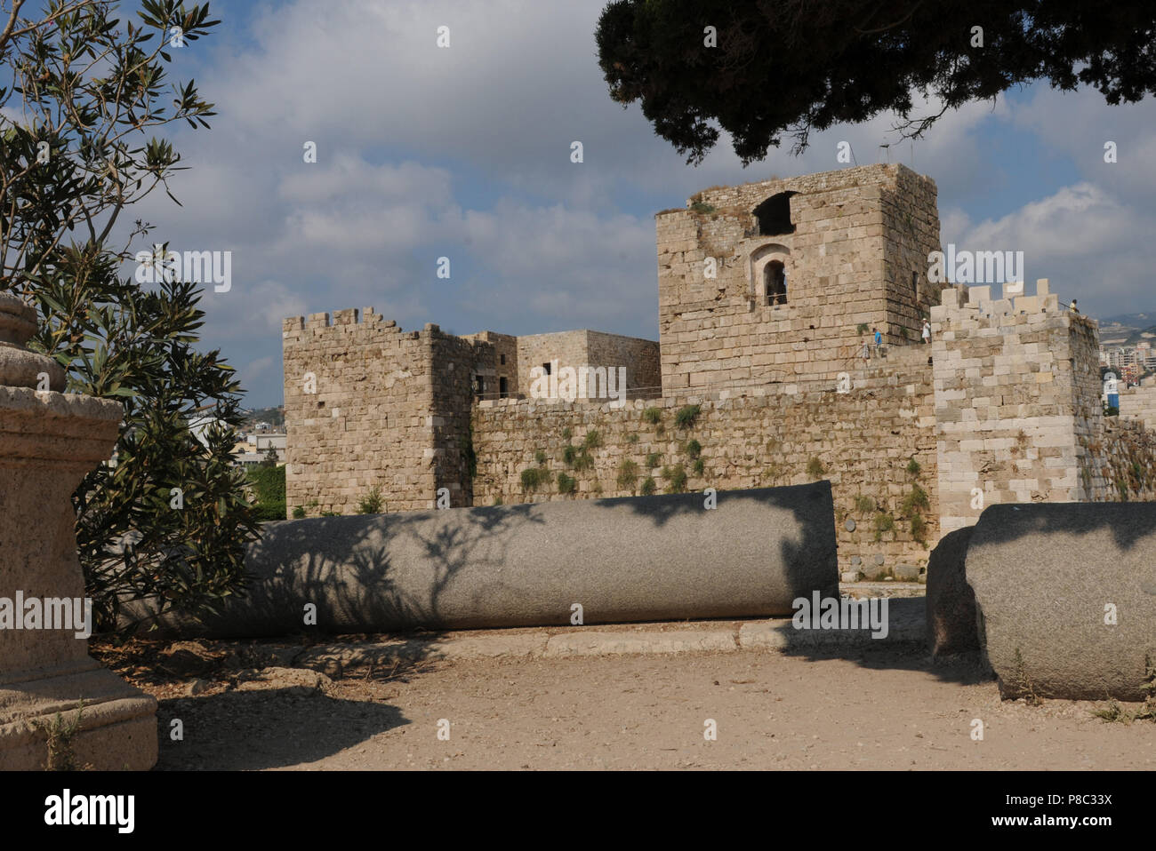 Lebaon: The ancient castle of Byblos City belongs to the Uneco World Heritages - Stock Image