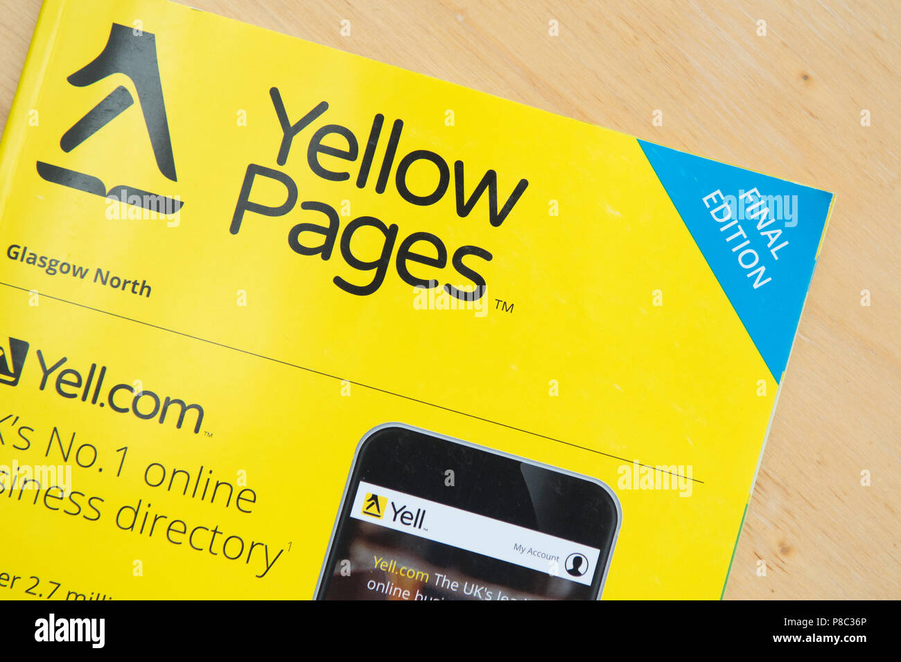 Yellow Pages Final Edition Stock Photo