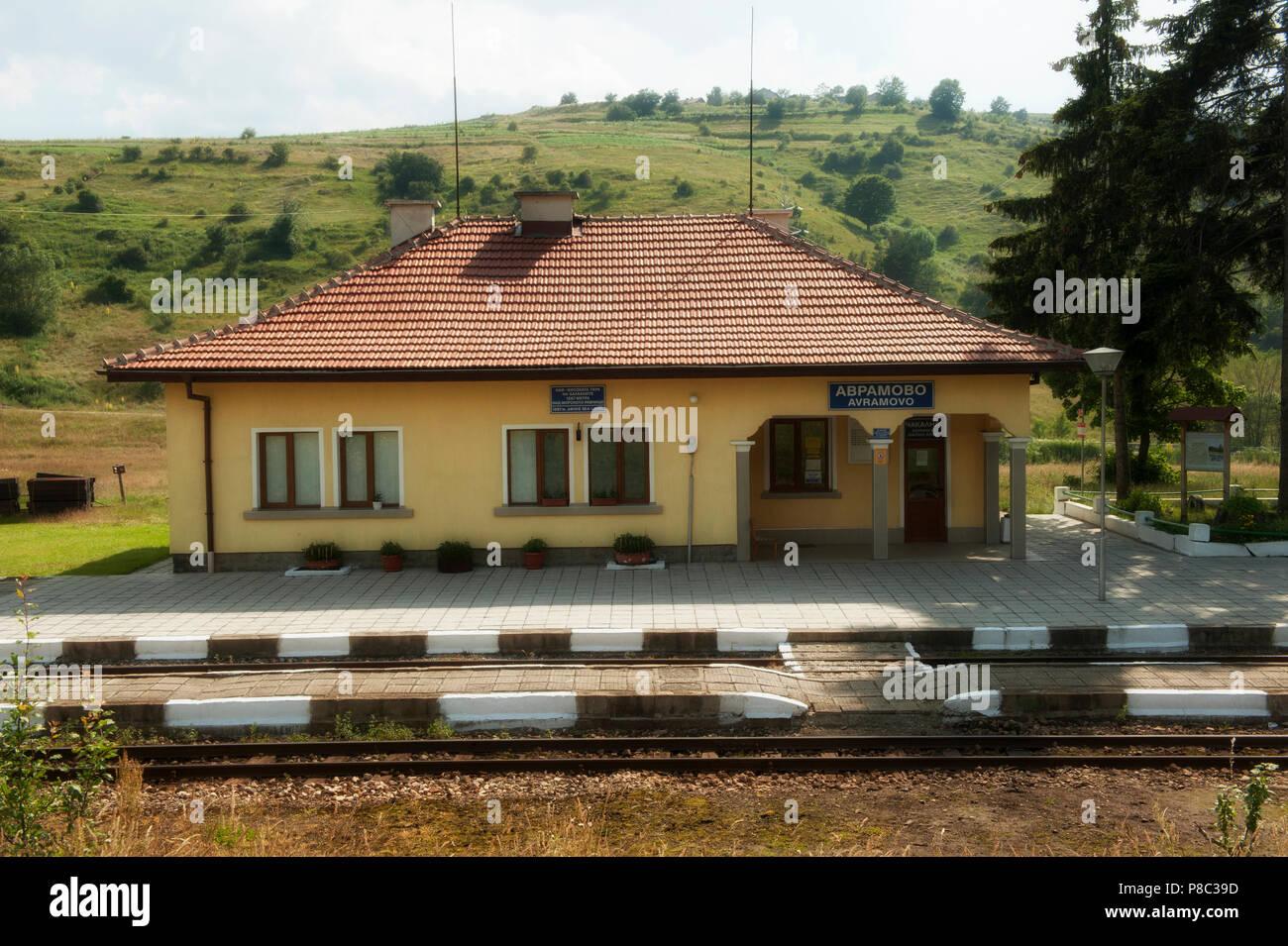Train Travel Bulgaria, Balkans, - Stock Image