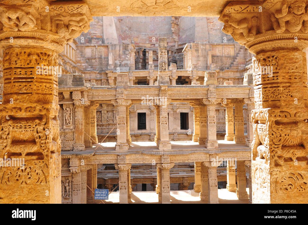India; The Ran ki Vav temples-ruins near Ahmedabad in Gujarat - Stock Image