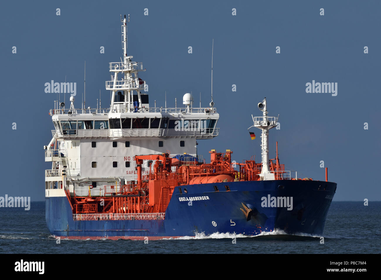 recently renamed tanker Gisela Essberger Stock Photo