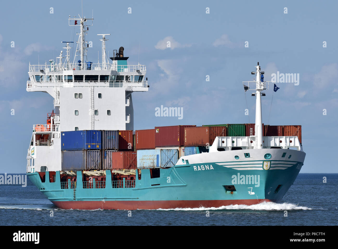 Feedervessel Ragna Stock Photo