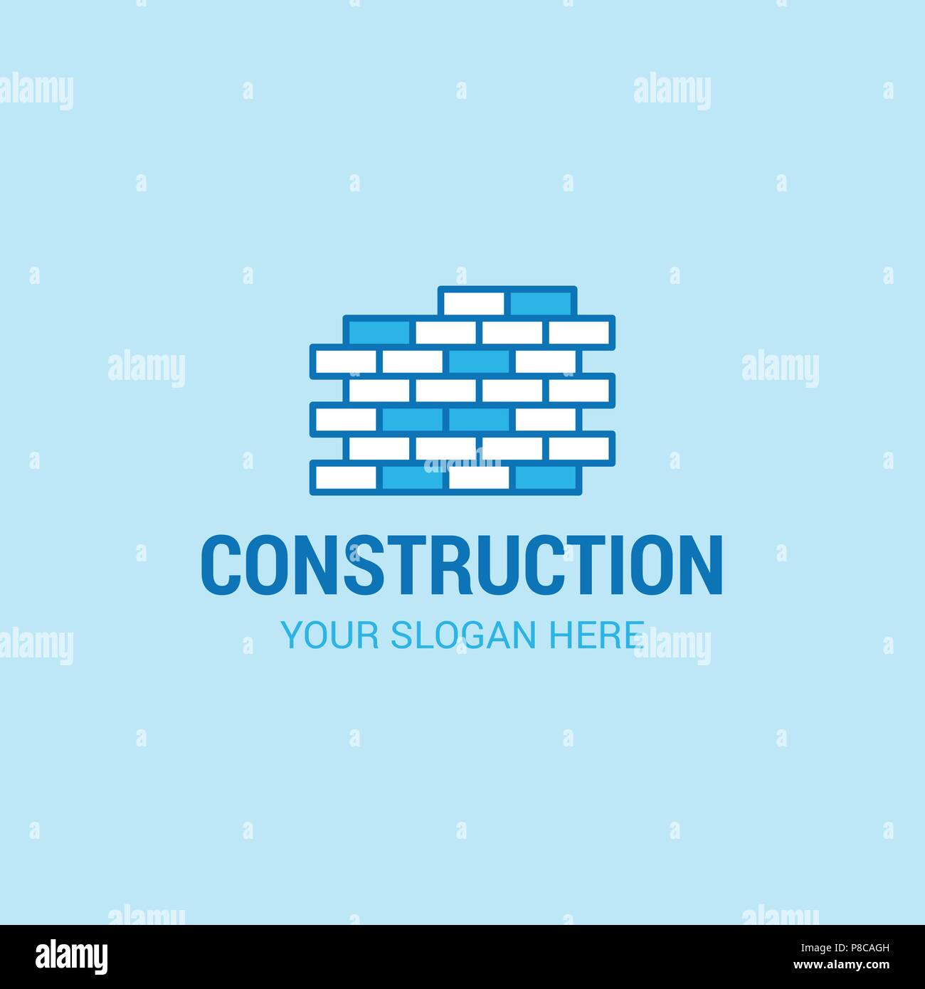 6c766028cae Labour day logo with light blue background vector - For web design and  application interface, also useful for infographics. Vector illustration.