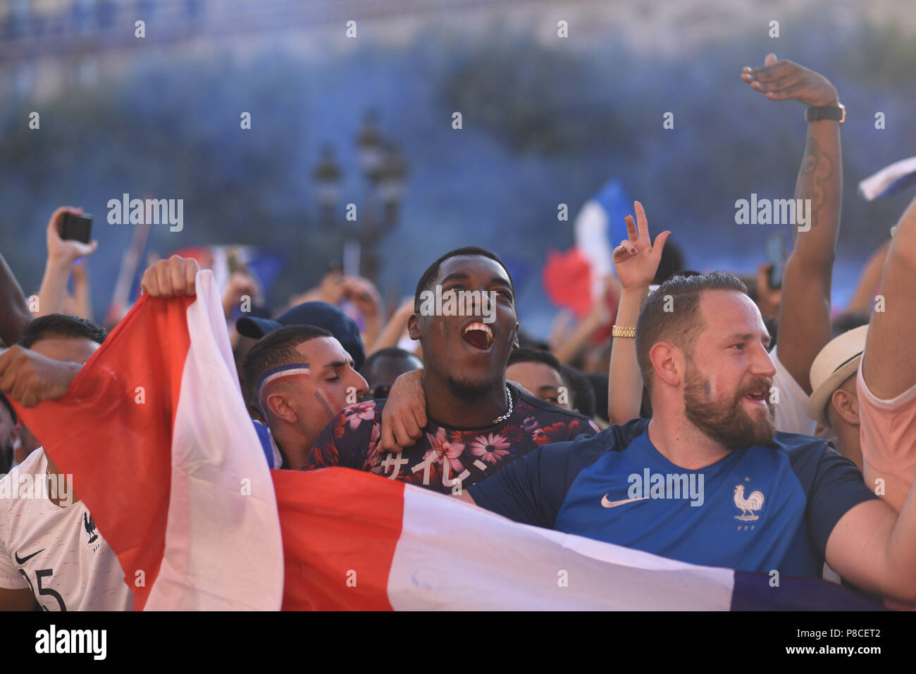 Paris France 10th July 2018 Supporters Of The French
