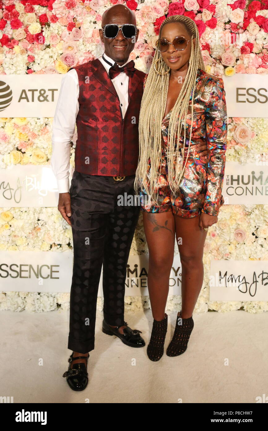 New Orleans, LA, USA. 8th July, 2018. Dapper Dan & Mary J. Blige attend the Strength of A Woman's Brunch at the Roosevelt Hotel, July 8, 2018 in New Orleans, LA. Photo Credit: Walik Goshorn/Mediapunch/Alamy Live News - Stock Image