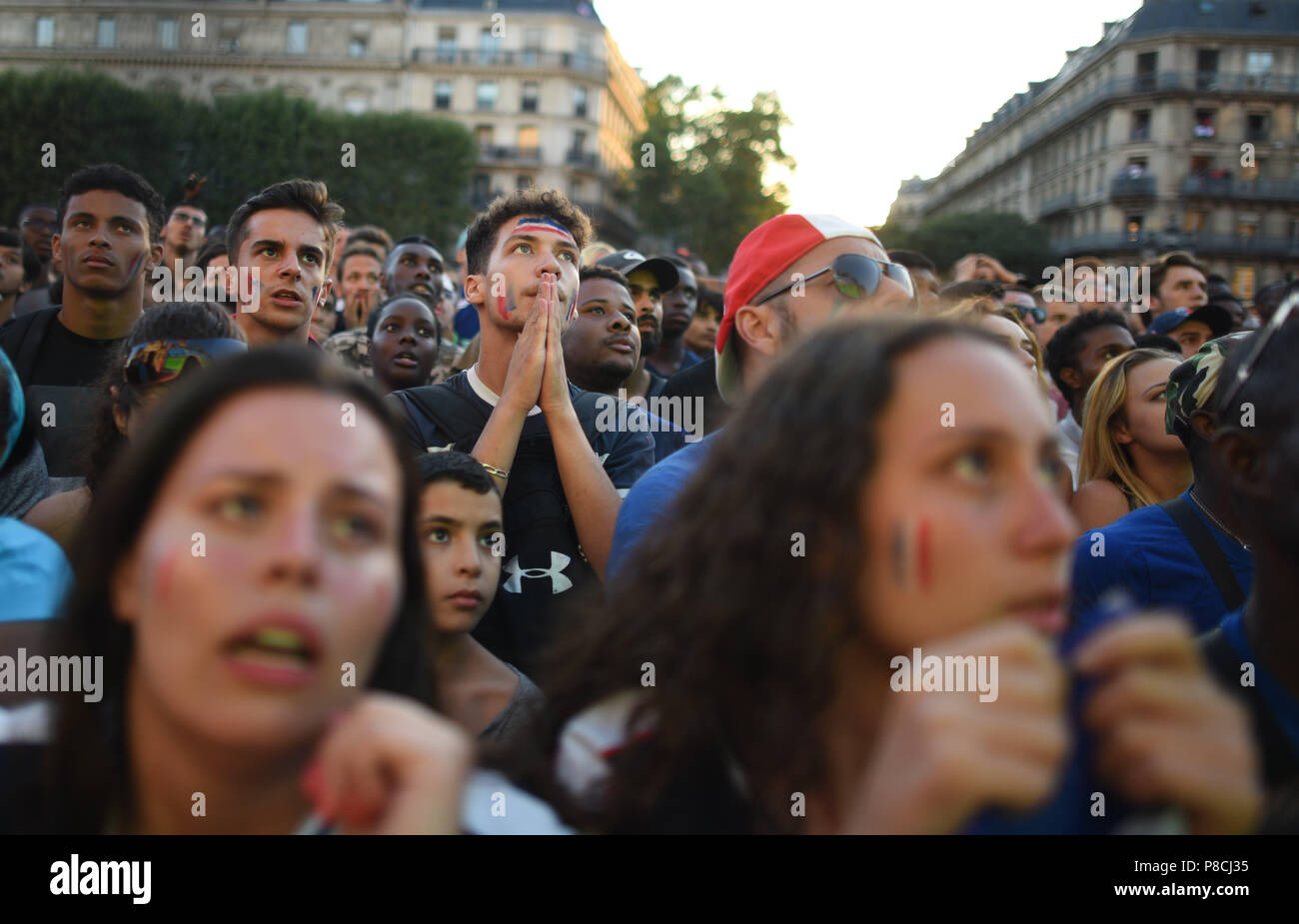 July 10 2018 Paris France Supporters Of The French