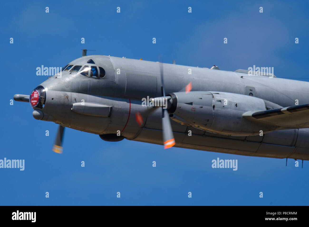 French Breguet Br.1150 Atlantic is a long-range maritime patrol aircraft at the Royal International Air Tattoo, RIAT 2018, RAF Fairford, Gloucestershire, UK - Stock Image