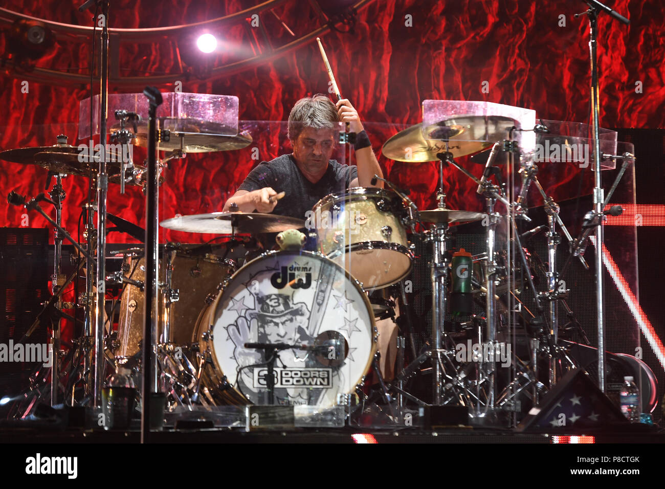 3 Doors Down performs at The Mizner Park Amphitheatre on July 10 2018 in Boca Raton Florida. Credit Mpi04/Media Punch/Alamy Live News & Boca Raton. 10th July 2018. 3 Doors Down performs at The Mizner ...