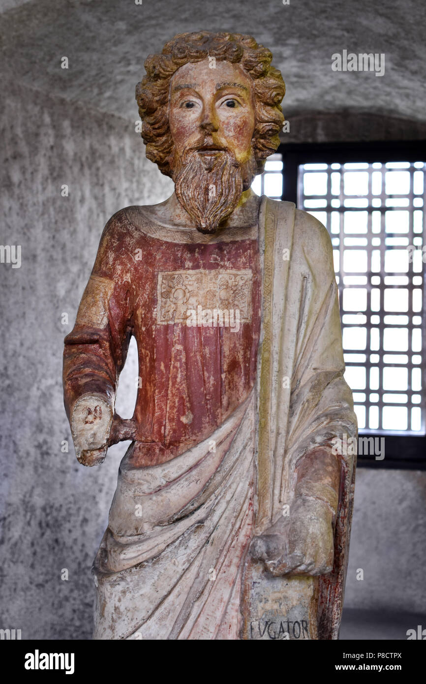 Saint Bartholomew by Veronese sculptor (2nd half of the 14th century)  Italy Italian - Stock Image