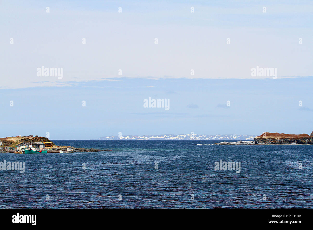 """Travelogue,  Travel Newfoundland, Canada,  Landscapes and scenic,  Canadian Province,  """"The Rock"""" Stock Photo"""