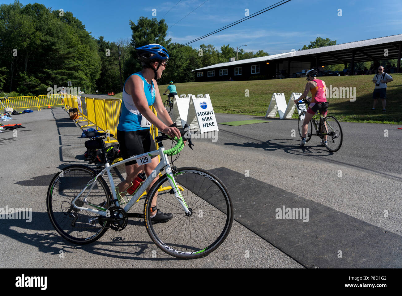 2018 Stissing Triathlon - Stock Image