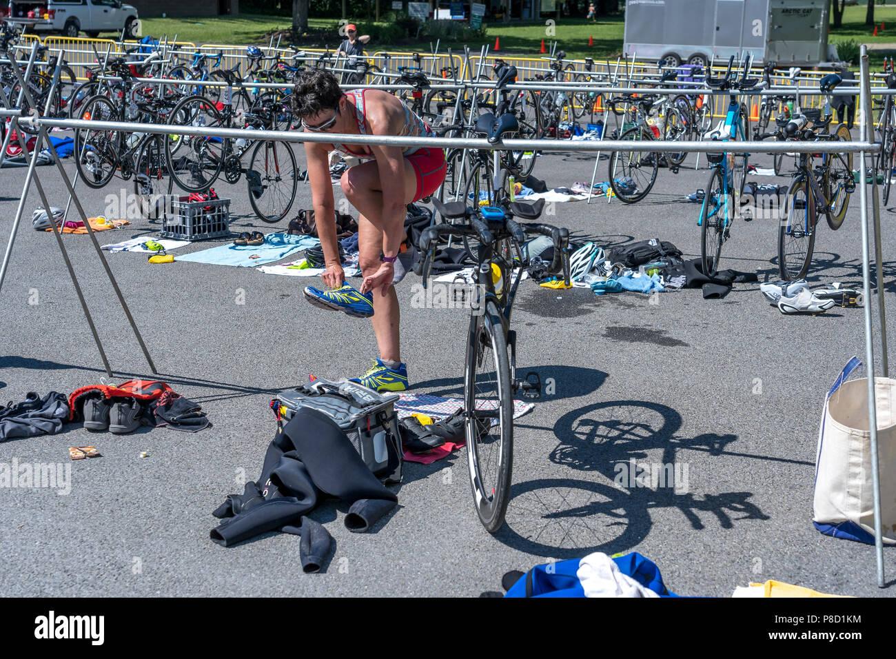 2018 Stissing Triathlon - Stock Image