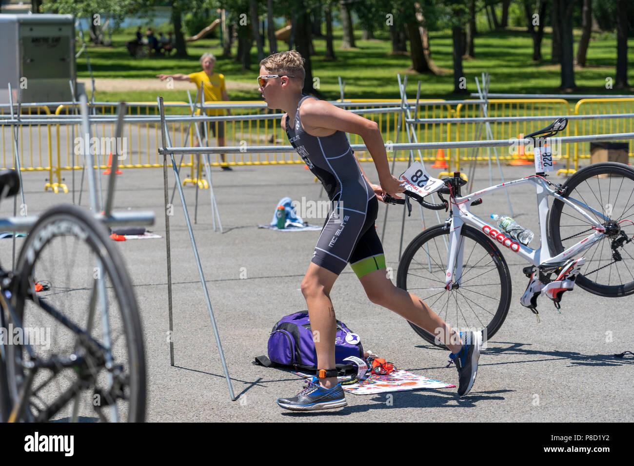 2018 Stissing Kid's Triathlon - Stock Image
