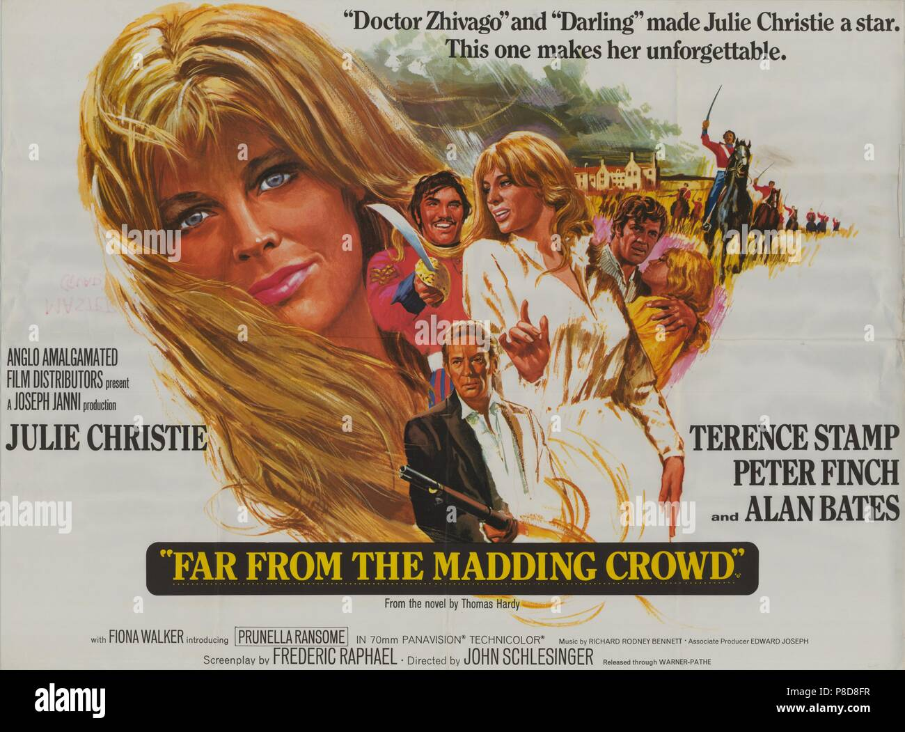 Far from the Madding Crowd (1968) Publicity information, film poster     Date: 1968 Stock Photo