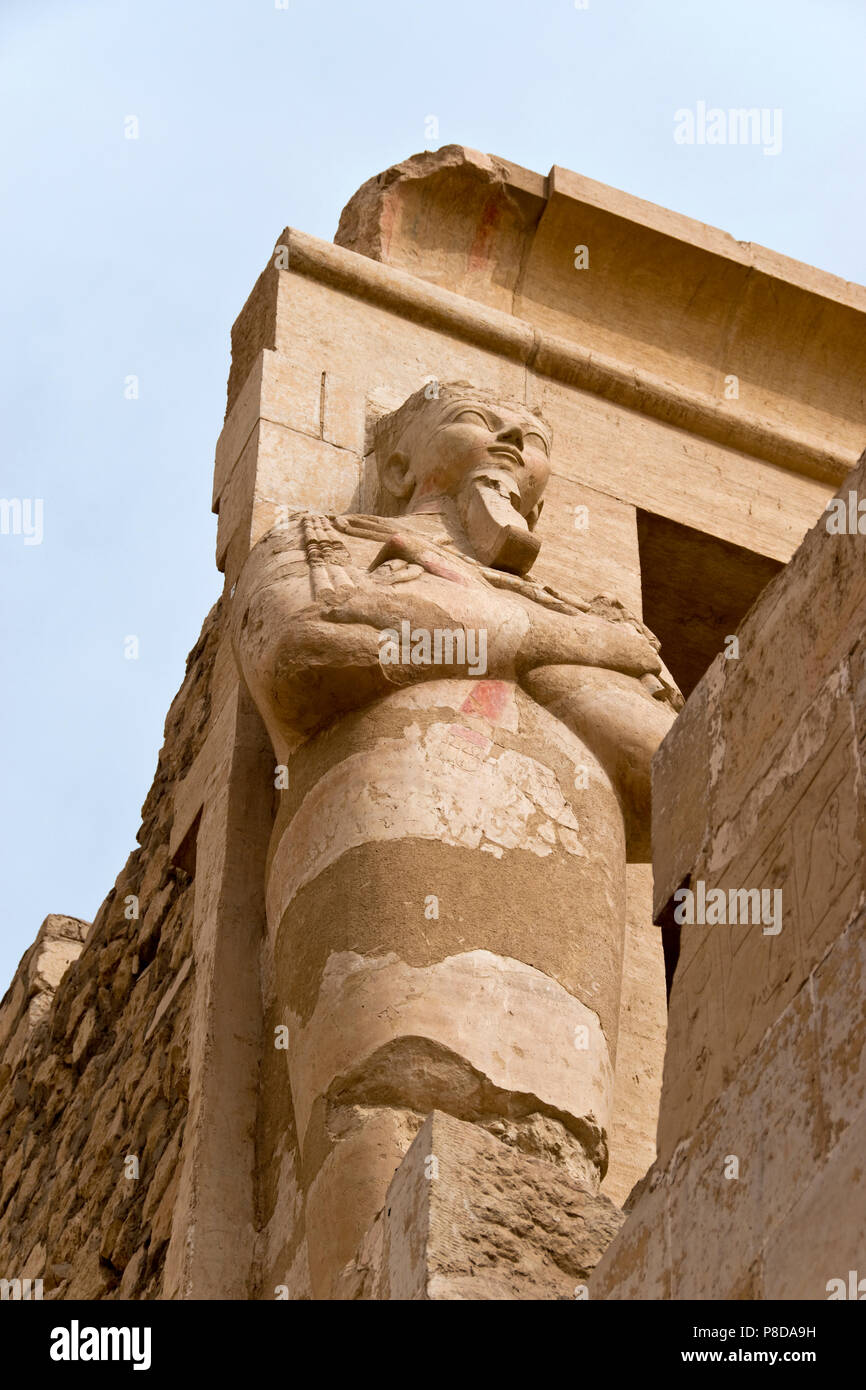 A Statue Of The Female Pharaoh Hatshepsut Depicted With A False