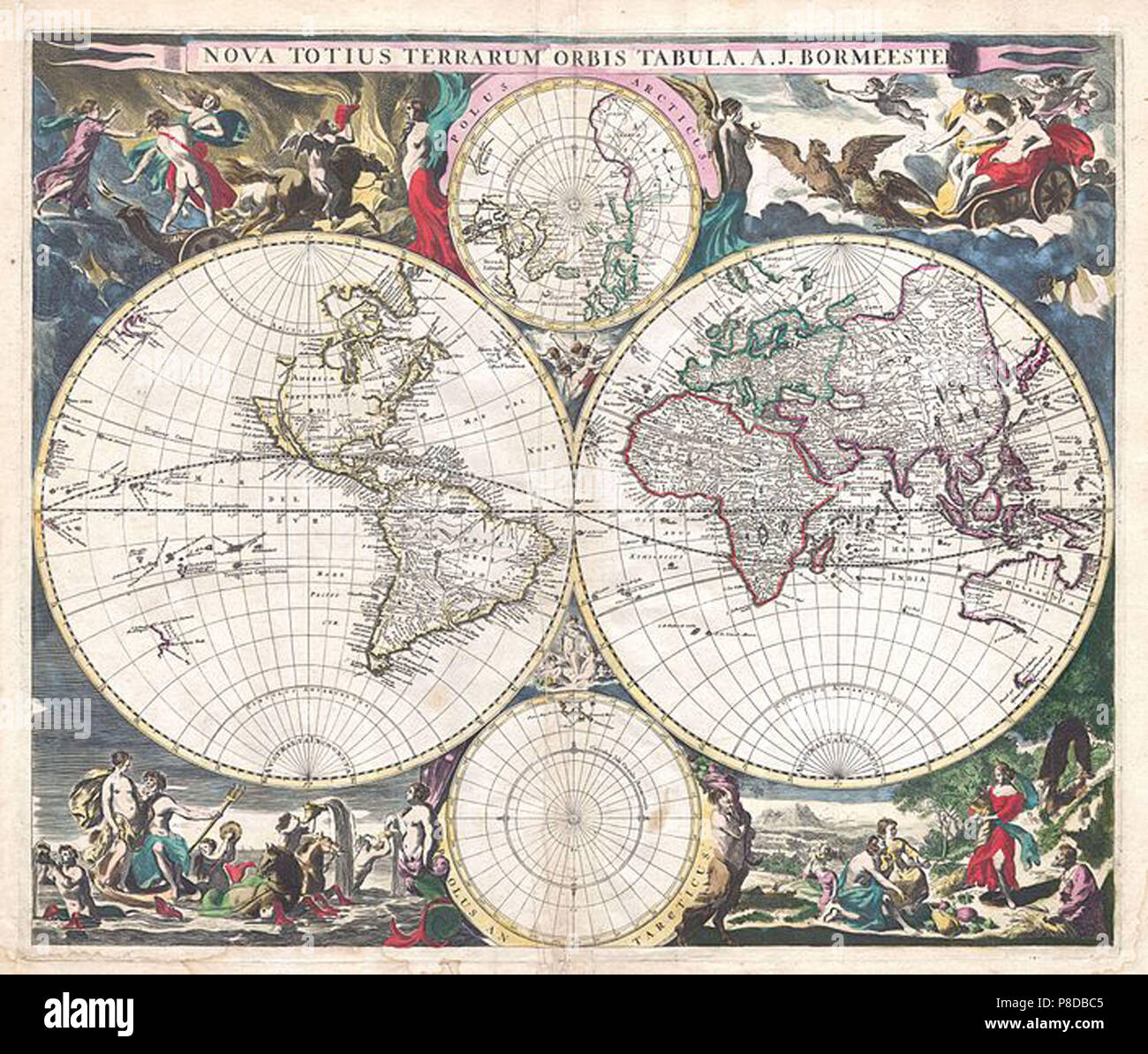 vintage map - Stock Image