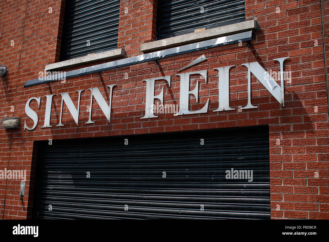 die Zentrale der 'Sinnn Fein', des politischen Arms der 'IRA', Belfast, Nordirland/ the headquarters of 'Sinn Fein', the political part of the IRA (Ir - Stock Image