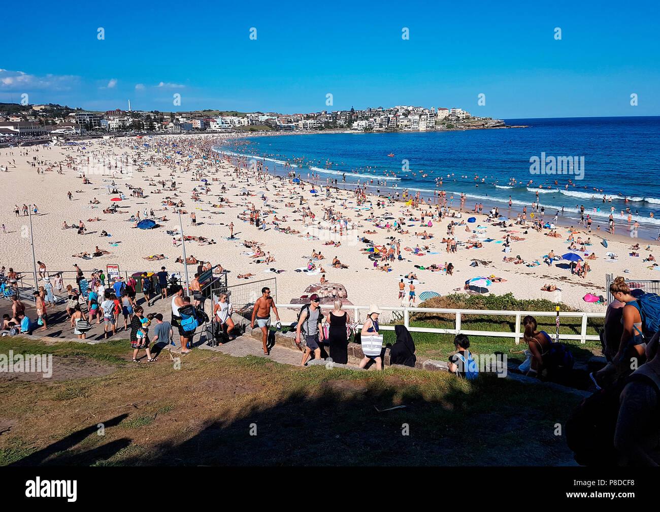 Impressionen: Bondi Beach, Sydney, Australien. - Stock Image