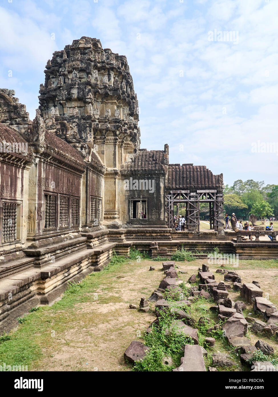Inner temple architecture at Angkor Wat, Siem Reap, Cambodia - Stock Image