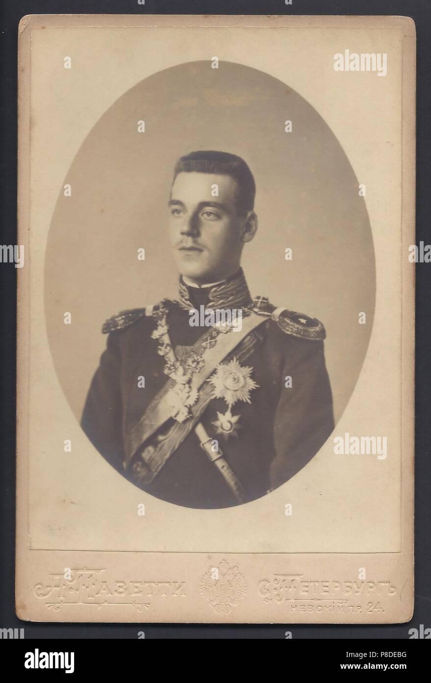 Grand Duke Michael Alexandrovich of Russia (1878-1918). Museum: PRIVATE COLLECTION. Stock Photo