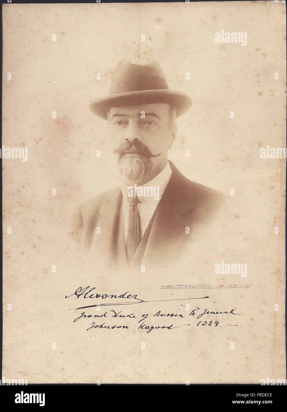 Grand Duke Alexander Mikhailovich of Russia (1866-1933). Museum: PRIVATE COLLECTION. Stock Photo