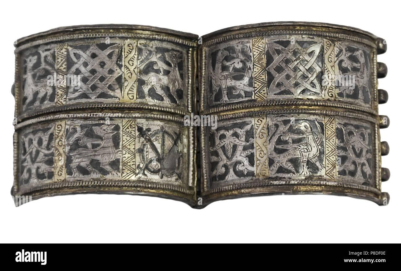 Bracelet from Old Ryazan. Museum: State Open-air Museum Ryazan Kremlin, Ryazan. - Stock Image