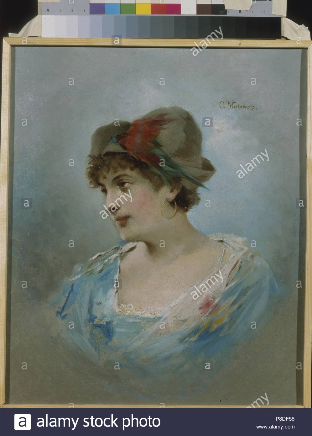 Portrait of the ballet dancer Marie Petipa (1857-1930). Museum: State Museum of Theatre and Music Art, St. Petersburg. Stock Photo