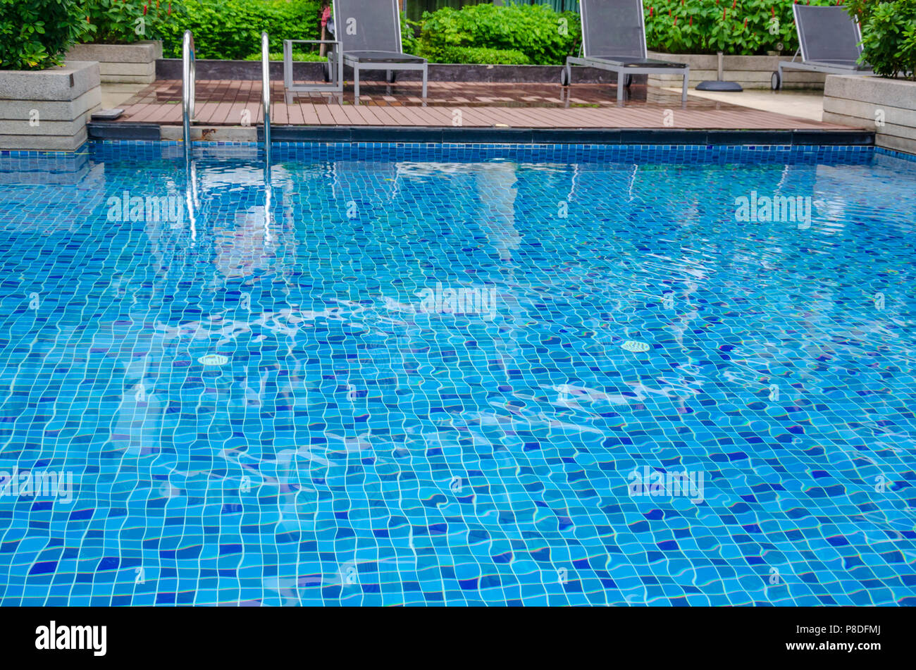 Beautiful swimming pool is a place to exercise Stock Photo ...