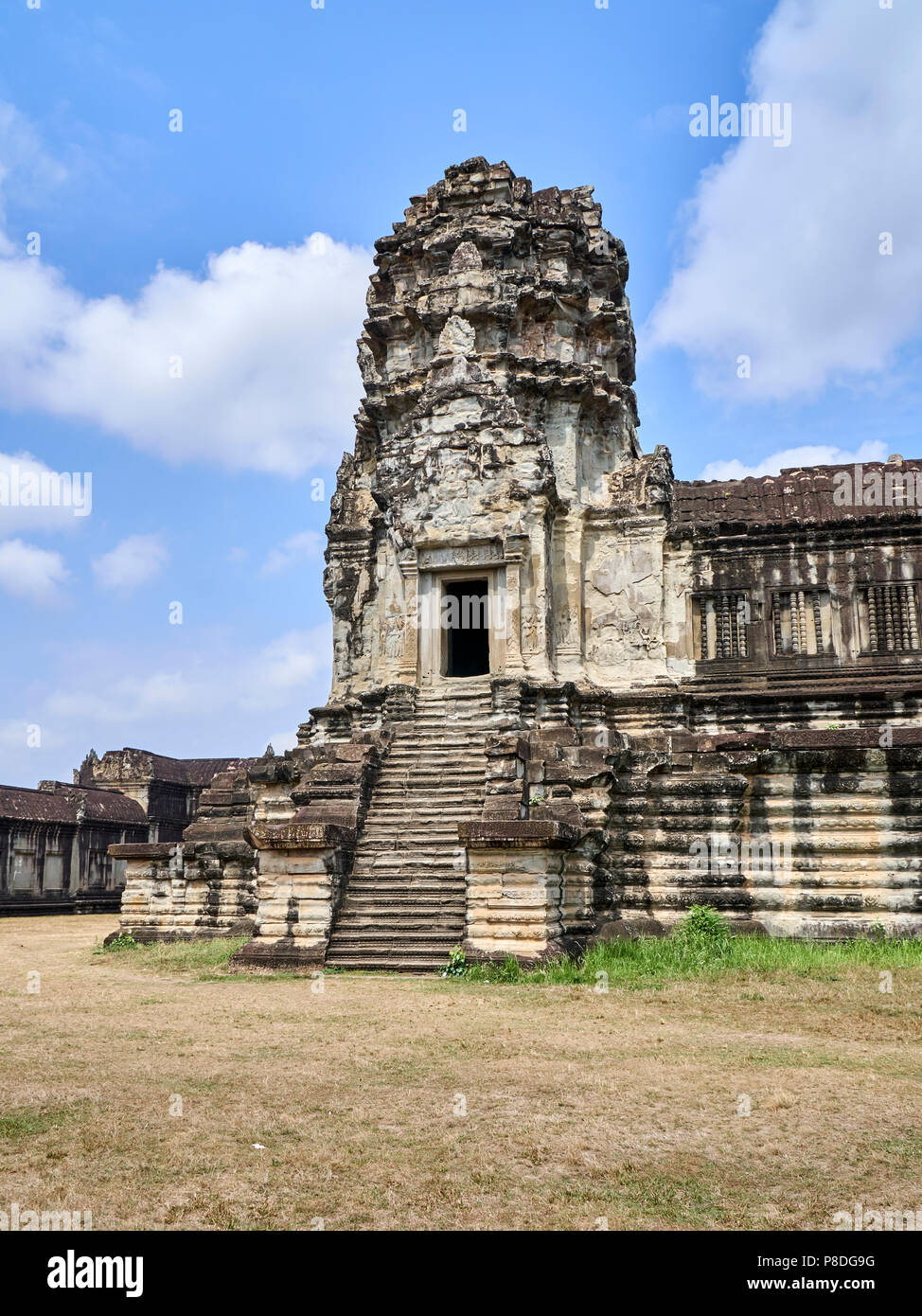Architecture inside Angkor Wat, Siem Reap, Cambodia - Stock Image