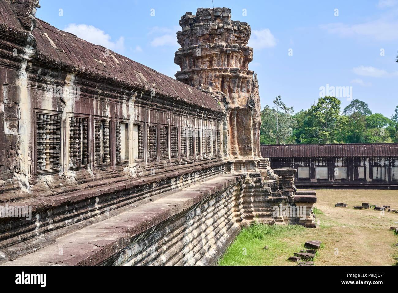 Inner temple at Angkor Wat, Siem Reap, Cambodia - Stock Image