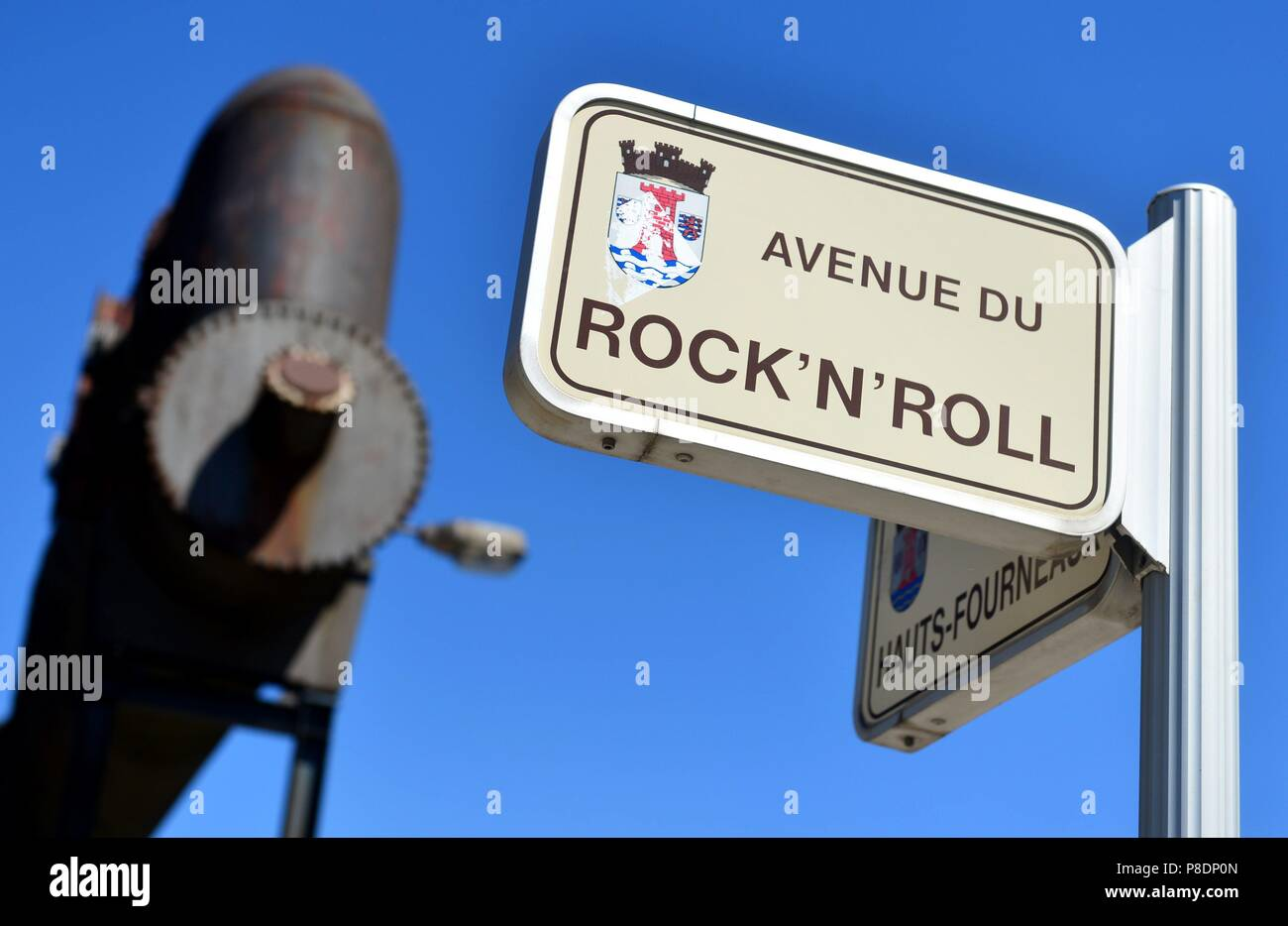 The Avenue du Rock'n'Roll at district Belval in Esch-sur-Alzette (Luxemburg), 08 May 2018.   usage worldwide - Stock Image