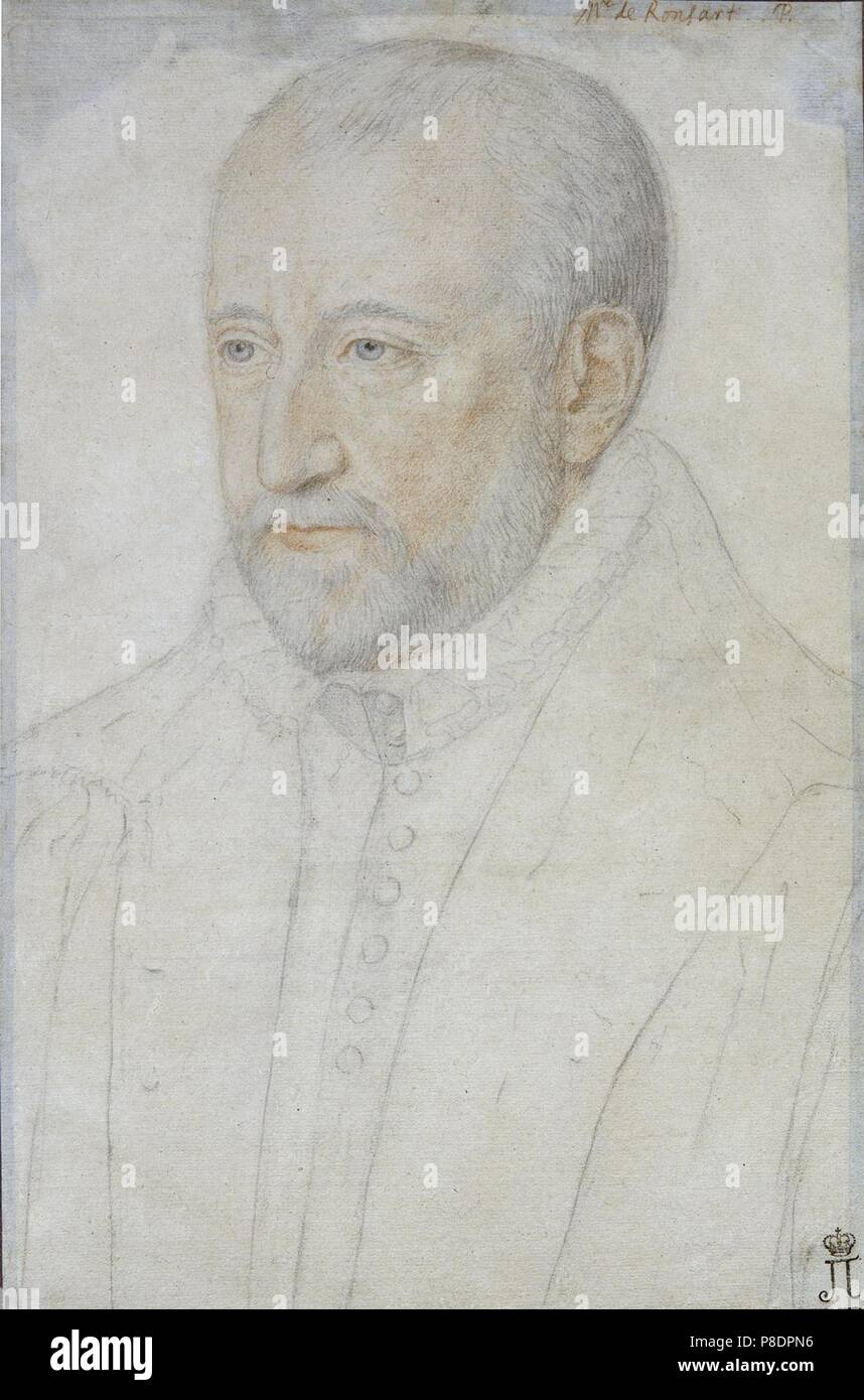 Portrait Of Pierre De Ronsard 1524 1585 Museum State