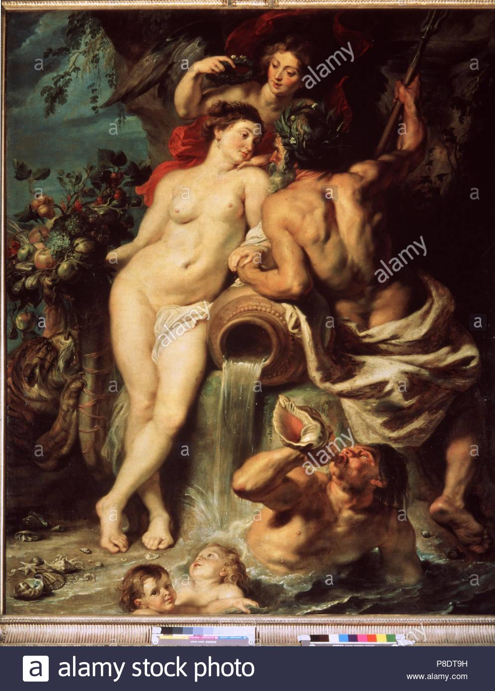 The Union of Earth and Water (Antwerp and the Scheldt). Museum: State Hermitage, St. Petersburg. - Stock Image