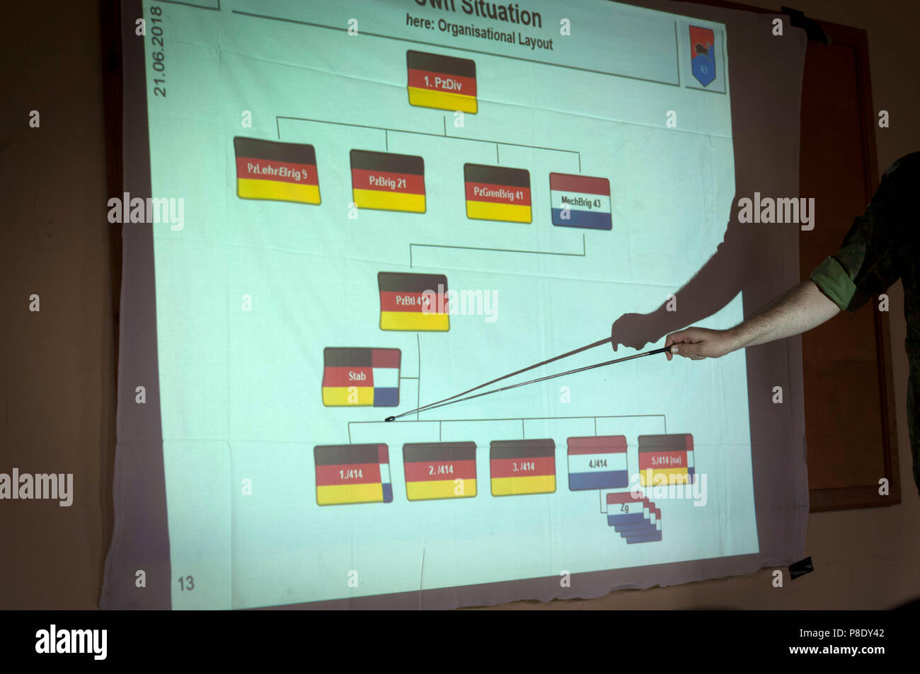 Structure of the integrated Dutch, German Battalion. - Stock Image
