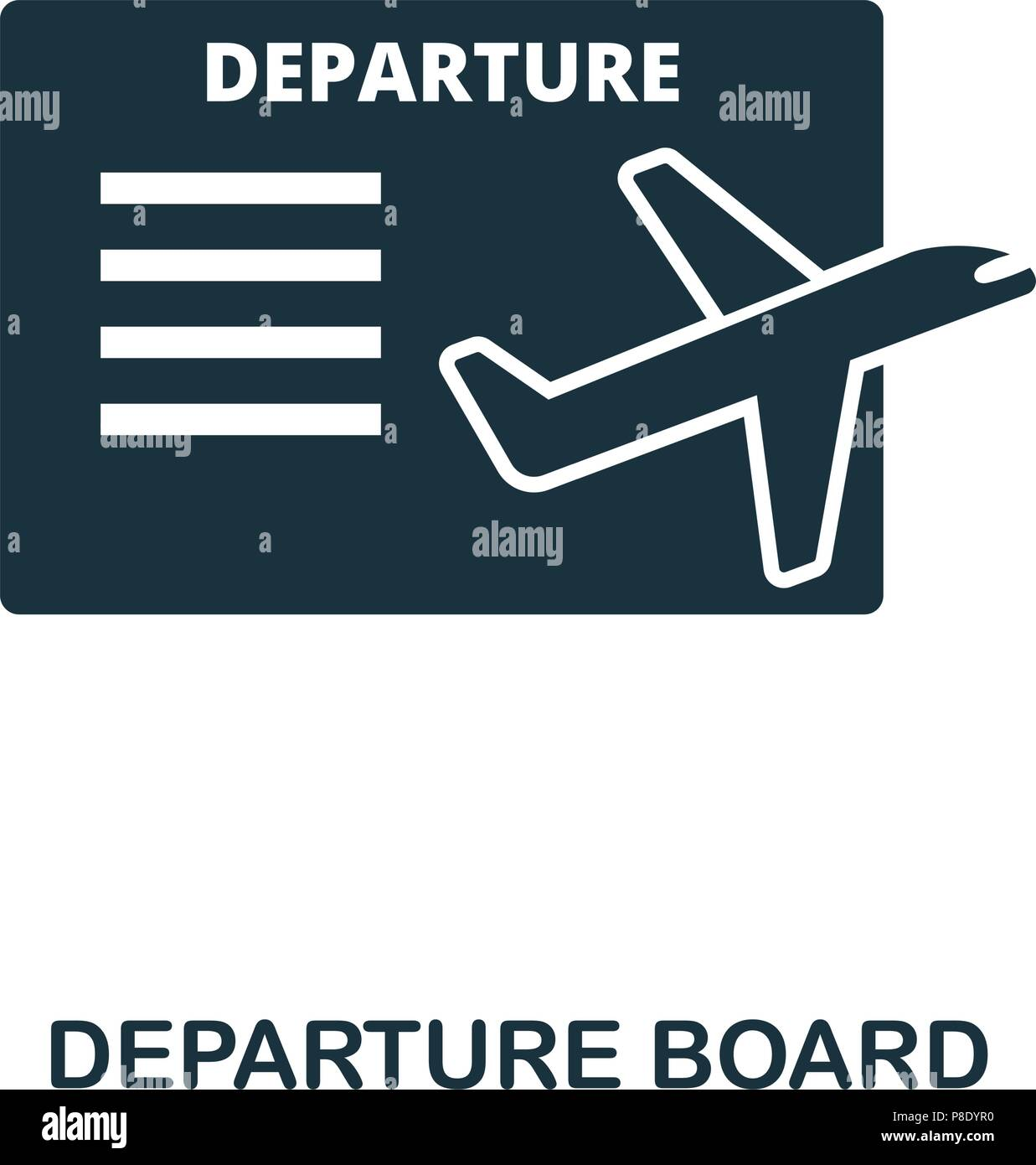 Ui Design Illustration Icon Of Style Board Line Departure Icon