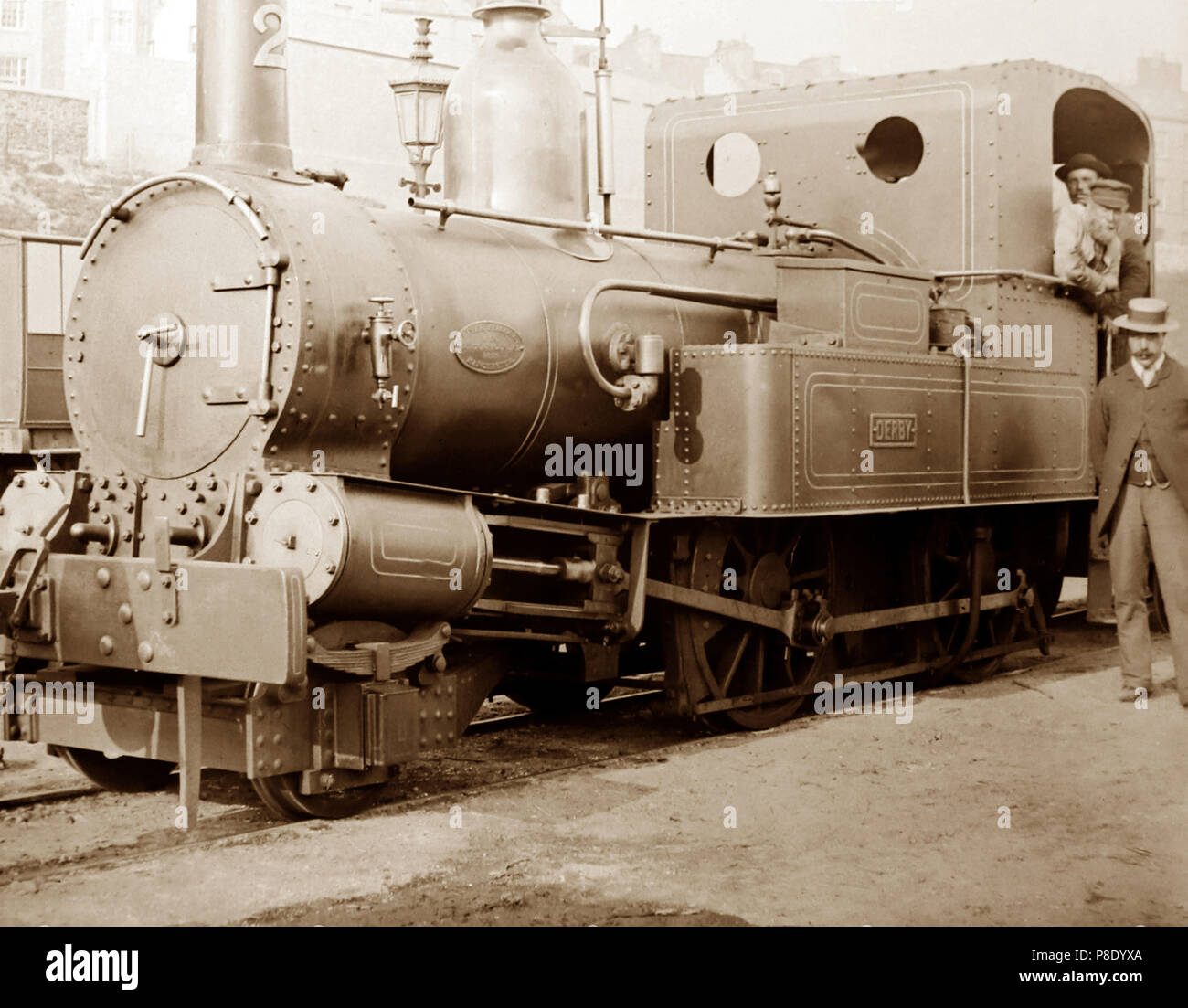 Beyer Peacock 'Derby' locomotive built in Manchester, probably Victorian period - Stock Image