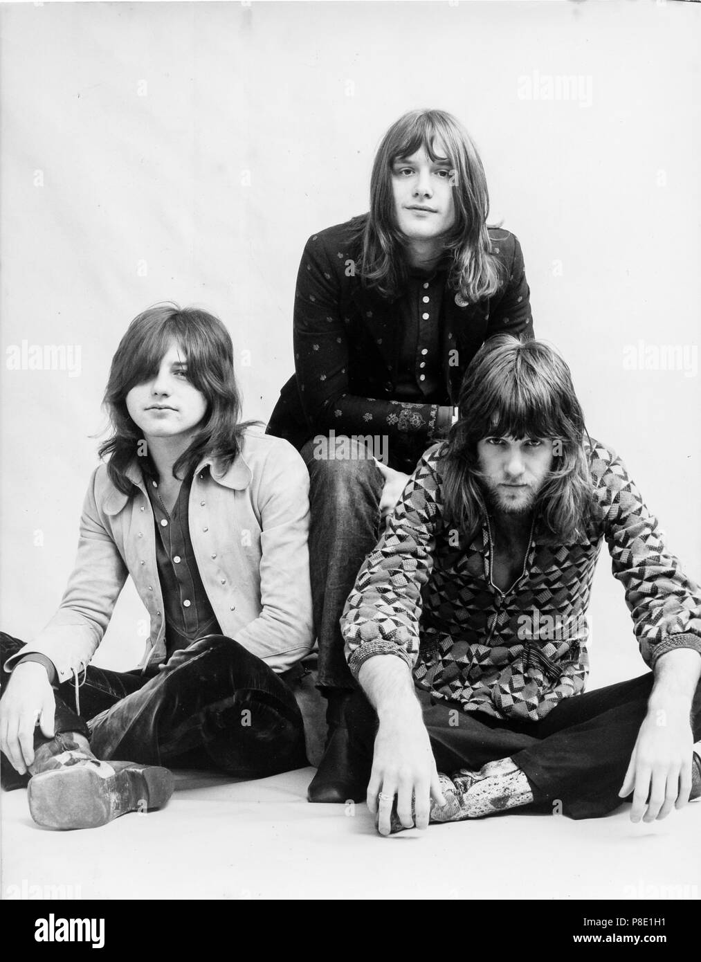 emerson lake & palmer, carl palmer, keith emerson, greg lake, 1972 Stock Photo