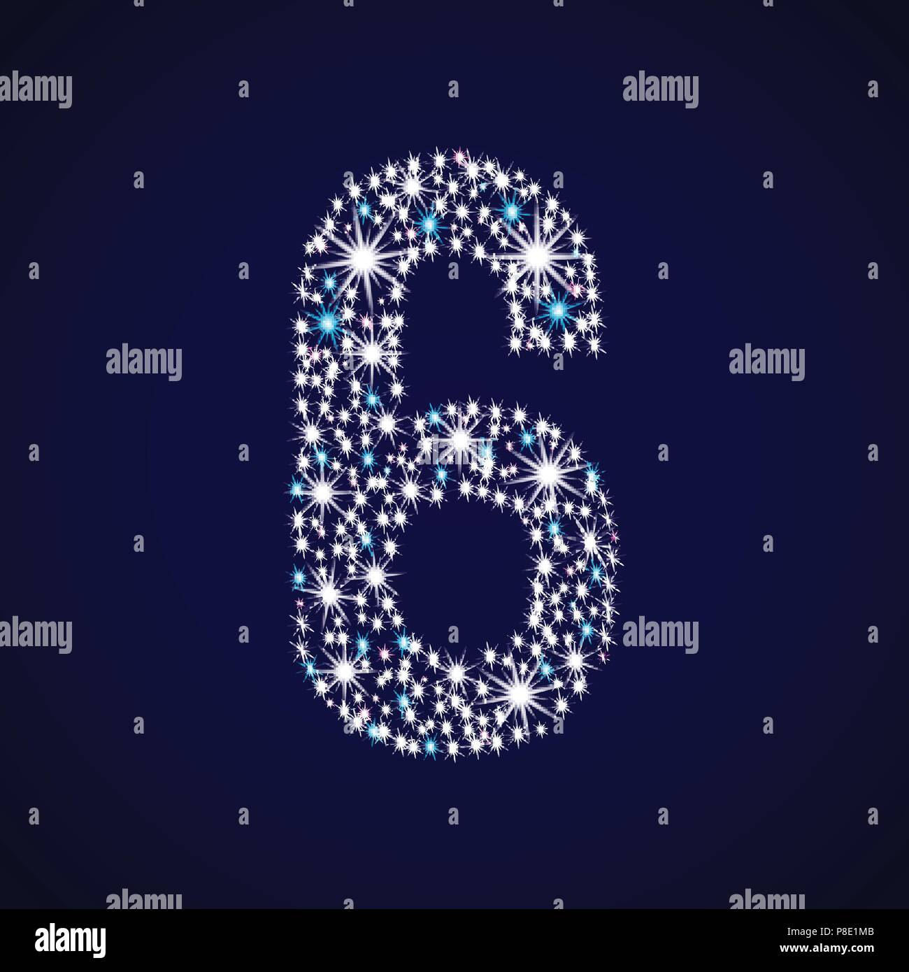 Number six. - Stock Image