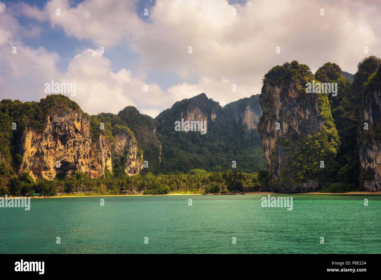 Beach on Koh Phi Phi island in Thailand - Stock Image