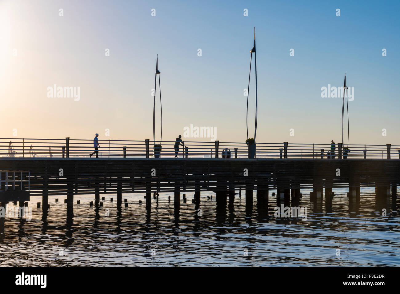 Pier on the seafront   in Baku - Stock Image