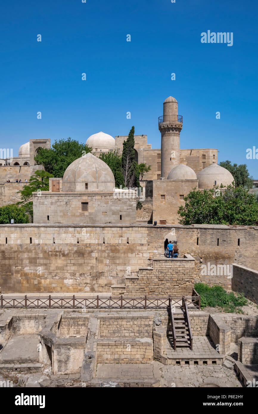 The Palace of the Shirvanshahs , Baku, Azerbaijan - Stock Image