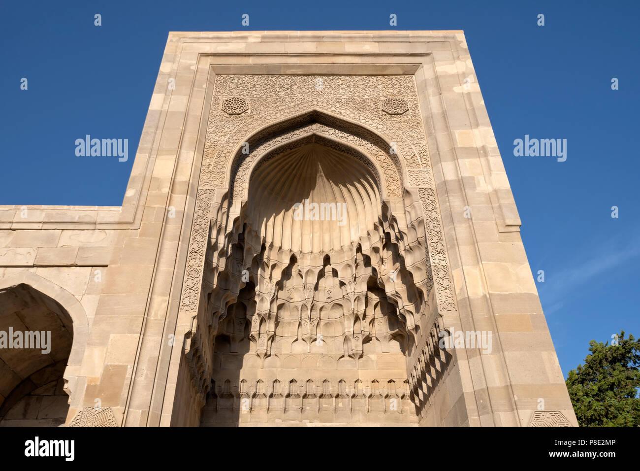 Divankhana Entrance in The Palace of the Shirvanshahs , Baku, Azerbaijan - Stock Image