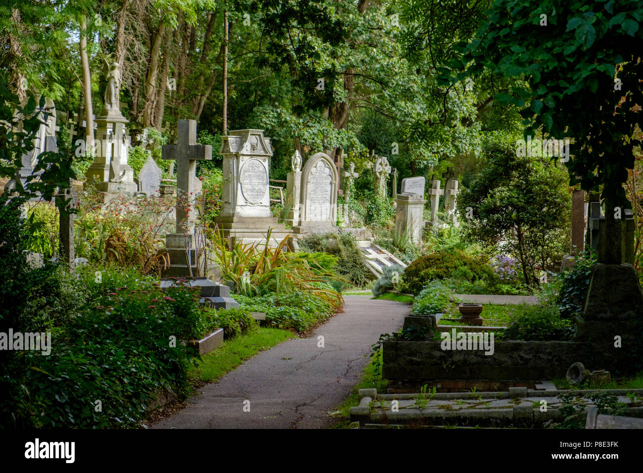Highgate Cemetery, London. - Stock Image
